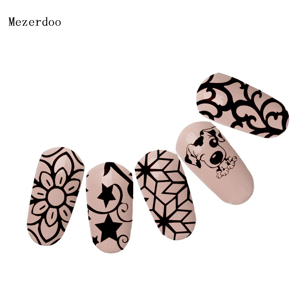 Cute lazy Dog Nail Stamping Plate Lovely animal Pet Script