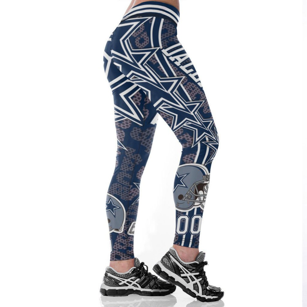 Unisex Football Team Cowboys 00 Print Tight Pants Workout Gym Training Running Yoga Sport Fitness Exercise Leggings Dropshipping
