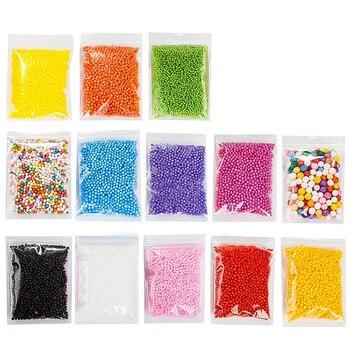 13 paket Mikro Balçık Köpük Topları Boncuk Renkli Strafor Köpük Topları Küreler Dolgu Boncuk Dekor Floam Dolgu Sanat el sanatları Su