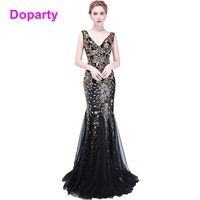 Doaprty Elegant Special Occasion Sequin Women Long Mermaid Engagement Mother Daughter Evening Prom Dresses 2018 For