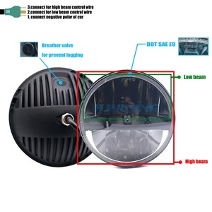 Image 3 - for Lada 4x4 urban Niva Defender 4x4 off road Front Light Round Headlights 7 inch Headlamp Offroad LED Head Driving Light Lamp