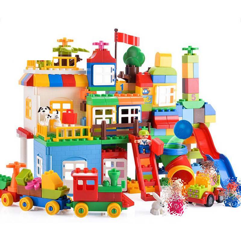 HM NEW 182 210Pcs Big Building Blocks Children's ...