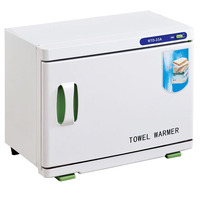 GXZ 23L Beauty Tool Disinfecting Cabinet UV Stainless Steel Cabinet Sterilizer 2 Layers Towel Warmer Disinfection Box