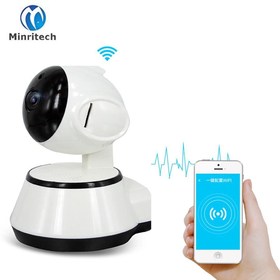 Minritech 720P IP Camera Wifi Security Home Alarm Surveillance Camera IR Night Vision Baby Monitors Onvif Two Way Audio PTZ