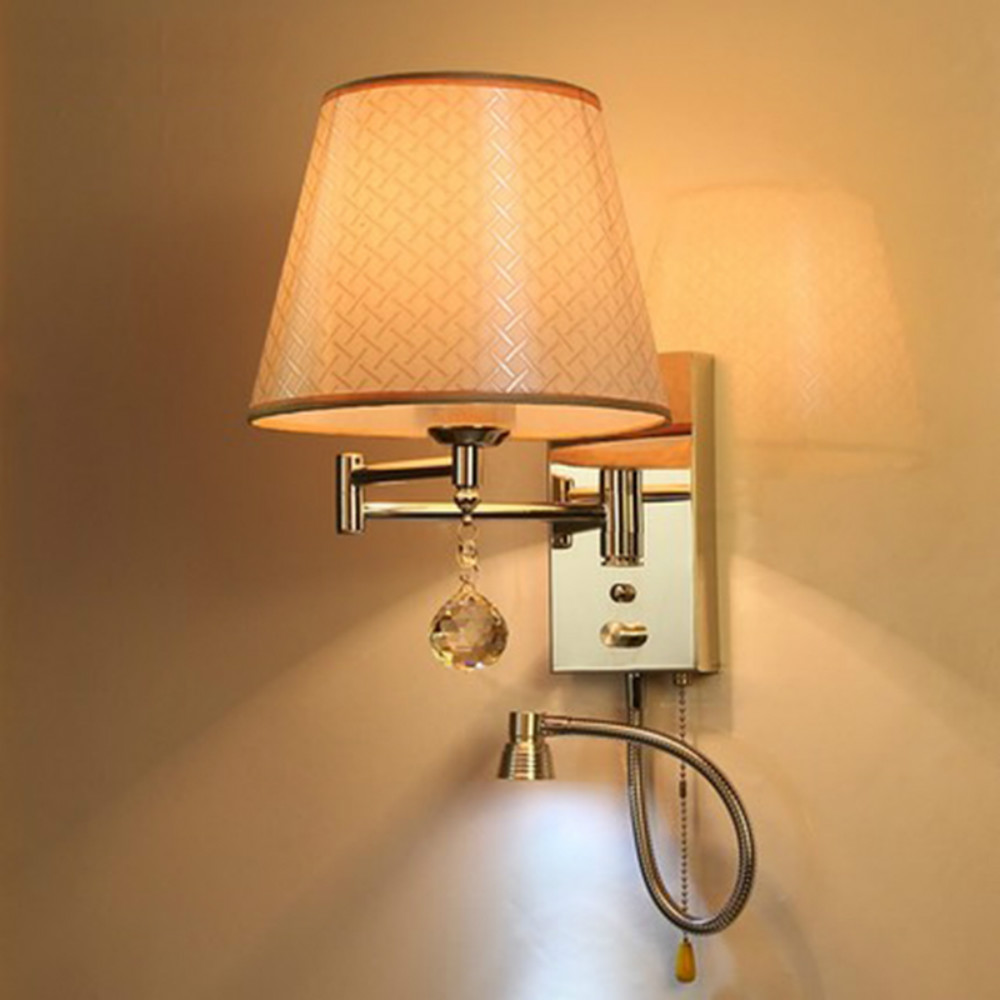 Bed Wall Lamp LED Bedside Reading Wall Mount Light 110 220v Wall Mounted Studying Reading Lamps