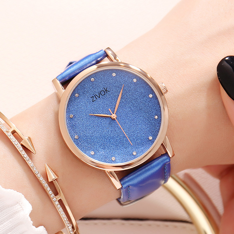 zivok Fashion Classic Blue Ladies Watches Casual Genuine Leather Strap Female Analog Clock Women Quartz Watch Reloj Mujer 2018 longbo luxury brand fashion quartz watch blue leather strap women wrist watches famous female hodinky clock reloj mujer gift