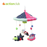 2015 New Arrival Toys For Baby Boys Superman Rocket Educational Rattles Music Mobile In Cot Rotate