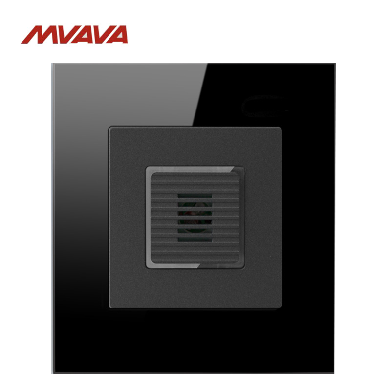 MVAVA Voice Light Control 45S Smart Switch Sound & Light Control/Motion Sensor Timer-Delay Luxury Black Crystal Free Shipping dc 12v led display digital delay timer control switch module plc automation new