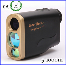 6×25 Hunting Monocular Telescope Golf Laser range Distance Meter Rangefinder 1000m Range Finder with 7 measurement modes