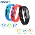 Diggro bluetooth 4.0 pulsera inteligente nfc ip67 impermeable heart rate monitor podómetro call/sms recordatorio monitor de sueño para android