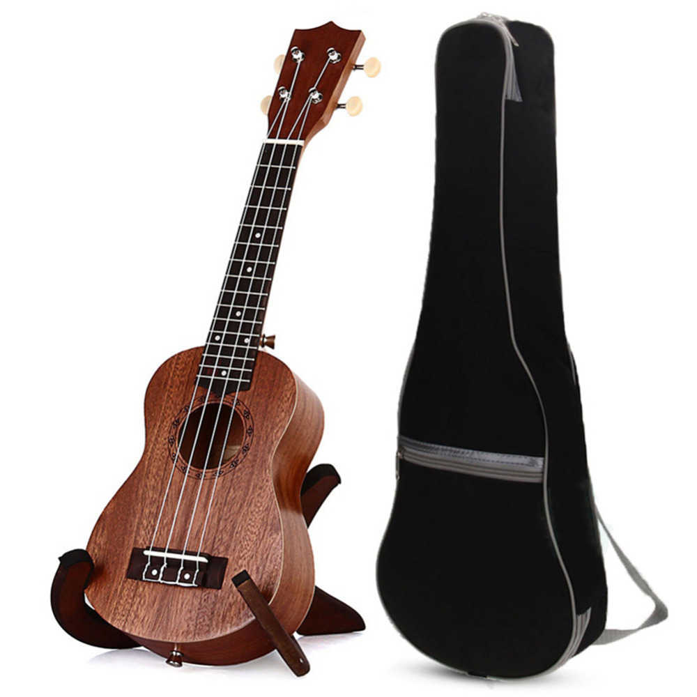 21 inch 15 Frets Sapele Ukulele Guitar Uke Sapele Rosewood 4 Strings Hawaii Guitar Strings Instruments + Gig Bag For Beginners 21 inch colorful ukulele bag 10mm cotton soft case gig bag mini guitar ukelele backpack 2 colors optional