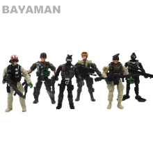 6pcs American Soldiers Military Model Toy Heroic Soldier Modeling Movable Joints Toys for Boys Toys Gift for Children цена