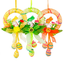 Cute Rabbit Hanging Ornament for Easter Decoration Happy Egg Baskets party Decor Bunny 31DA