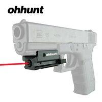 Ohhunt Avcılık Kırmızı Dot Lazer Mini Kompakt Kırmızı Lazer Sight Picatinny Raylı Dağı ile Taktik Tüfek Tabanca Tabanca