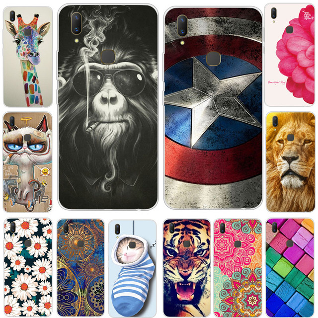 competitive price 84c35 1491b US $1.55 |For Vivo V9 Vivo Y85 Case Cover Soft TPU Silicone Cover Cute  Animal Flower Patterned Luxury Phone Case For VIVO V 9 V9 Y85 Y85A-in  Fitted ...