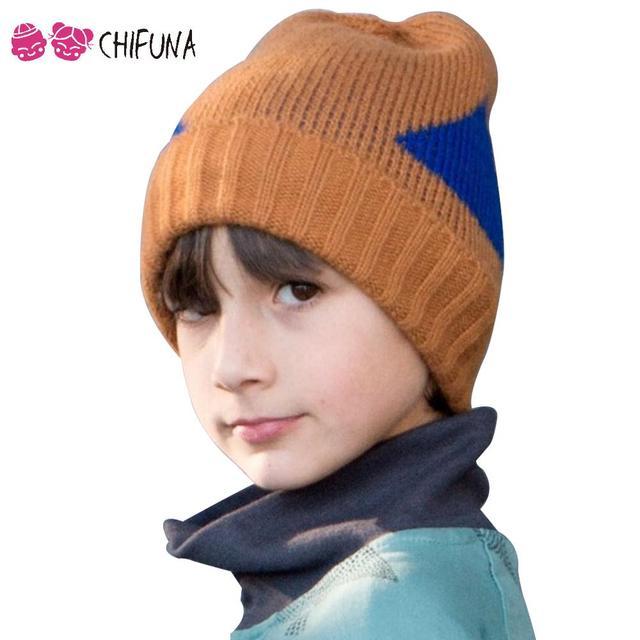 b044c21b709a1 1-8 Anos Bobo Choses Chapéu de Malha de Inverno Crianças Meninos Meninas  Crianças Caps