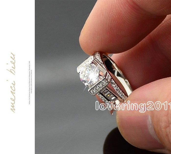 Online Shop choucong Eiffel Tower Style Stone 5A Zircon stone 925
