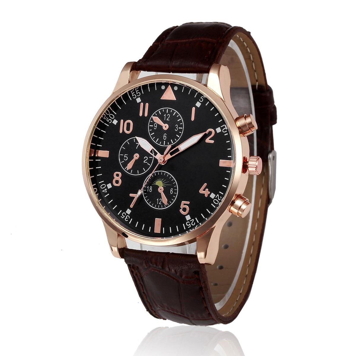 GEMIXI NEW Hot Sale Watch Men Relogio Masculino  Retro Design Leather Band Analog Alloy Quartz Wrist Watch Relojes Kol Saati