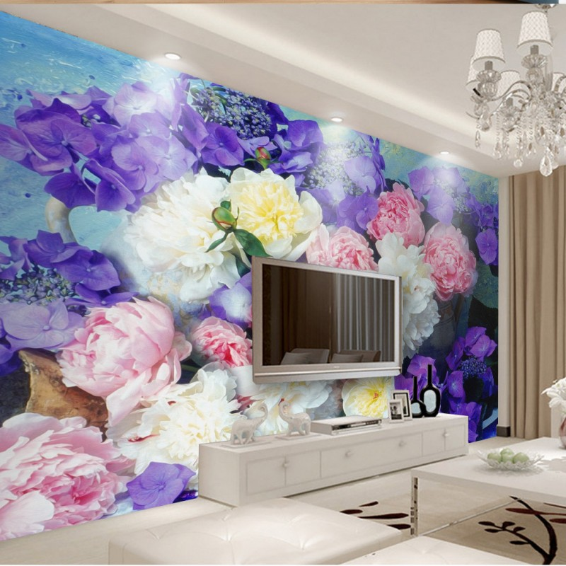 wallpaper 3d Retro European style hand painted floral TV background wall mural bedroom hotel theme living room wallpaper book knowledge power channel creative 3d large mural wallpaper 3d bedroom living room tv backdrop painting wallpaper
