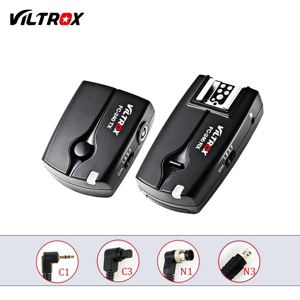Viltrox FC-240 Disparador remoto inalámbrico disparador de cámara para Canon 1300D 760D 700D 80D 5DII 7D Nikon D800 D7200 d5300
