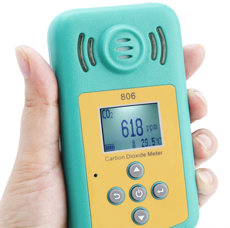 Yieryi High Sensitivity Mini KXL 806 Carbon Dioxide Detector Range 0 10000PPM Indoor CO2 Concentration Alarm