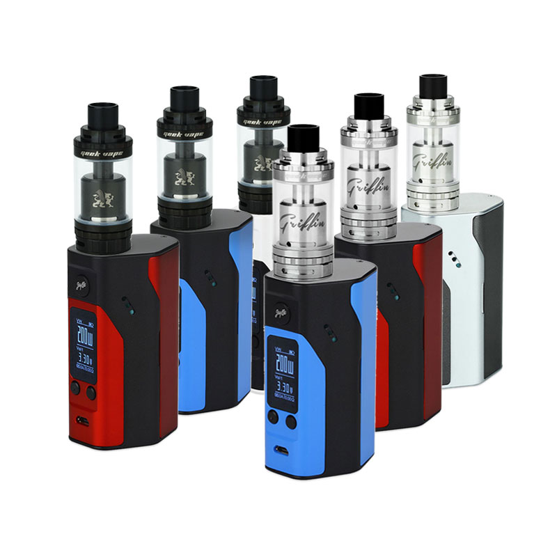 ФОТО Original Wismec RX200S Starter Kit 200W with Geekvape Griffin 25 Plus RTA Atomizer Top and Bottom Airflow Electronic Cigarette
