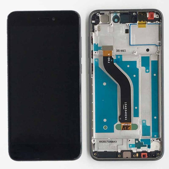 Black LCD Display Touch Screen Digitizer Assembly+Frame For Huawei P8 Lite 2017 PRA-LX1