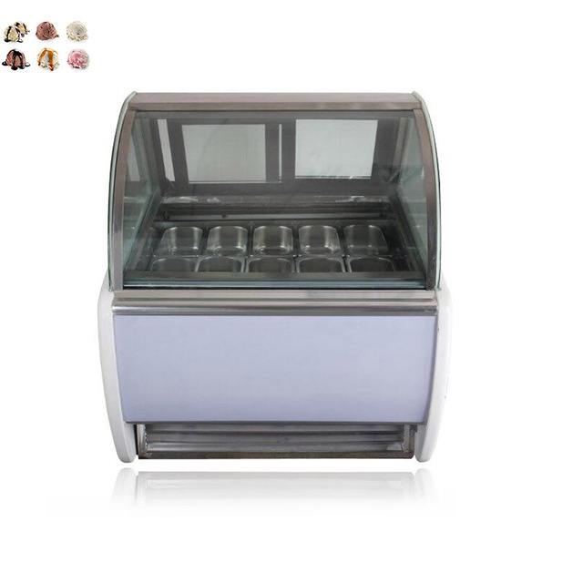 Commercial Glass door gelato ice cream dipping display case Chiller Cabinets For sale Free Shipping by  sc 1 st  AliExpress.com & Commercial Glass door gelato ice cream dipping display case Chiller ...