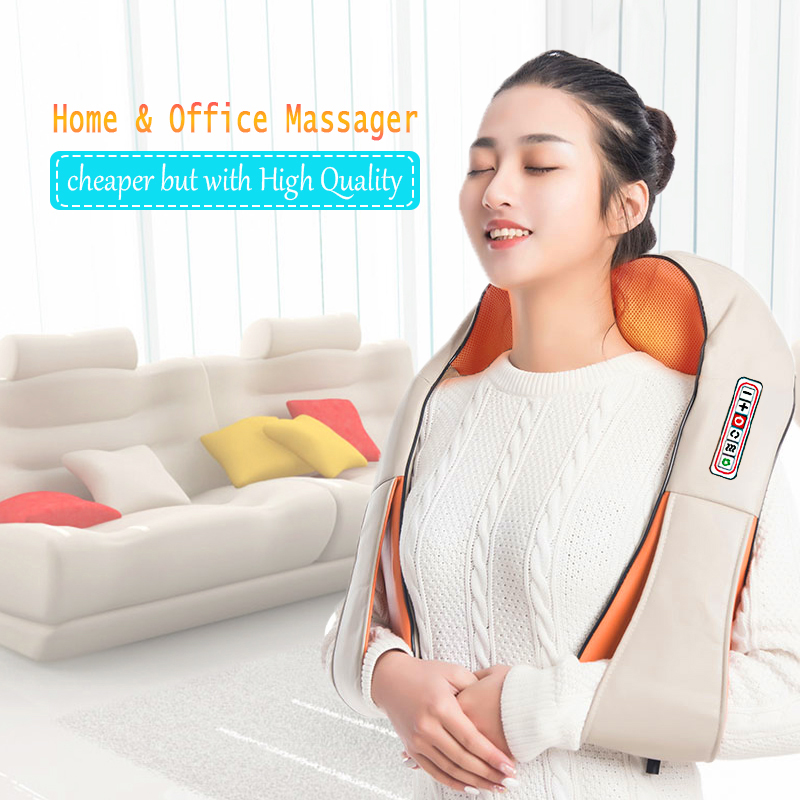 Image 2 - Home Car U Shape Electrical Shiatsu Back Neck Shoulder Body Massager Infrared Heated Kneading Car/Home Massagem-in Massage & Relaxation from Beauty & Health