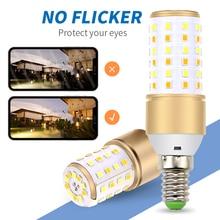 4pcs Led Corn Lamp 3 Color Temperatures Integrated E27 LED Bulb High Lumen 4W 5W 7W E14 Candle Lights Decoration Living Room
