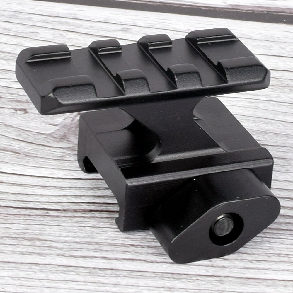 Tactical Riser Mount Rail Base QD Lockdown Series Lightweigh 3 Slot 20mm Picatinny Rail Weaver Adapter