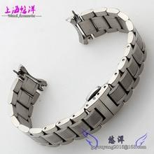 Núcleo sólido correa de acero aplicable lista de acero con hebilla automática toda la pulsera de acero 20 mm para hombre