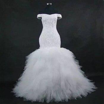 2019 New African Off Shoulder Mermaid Wedding Dress Off The Shoulder Wedding Gowns