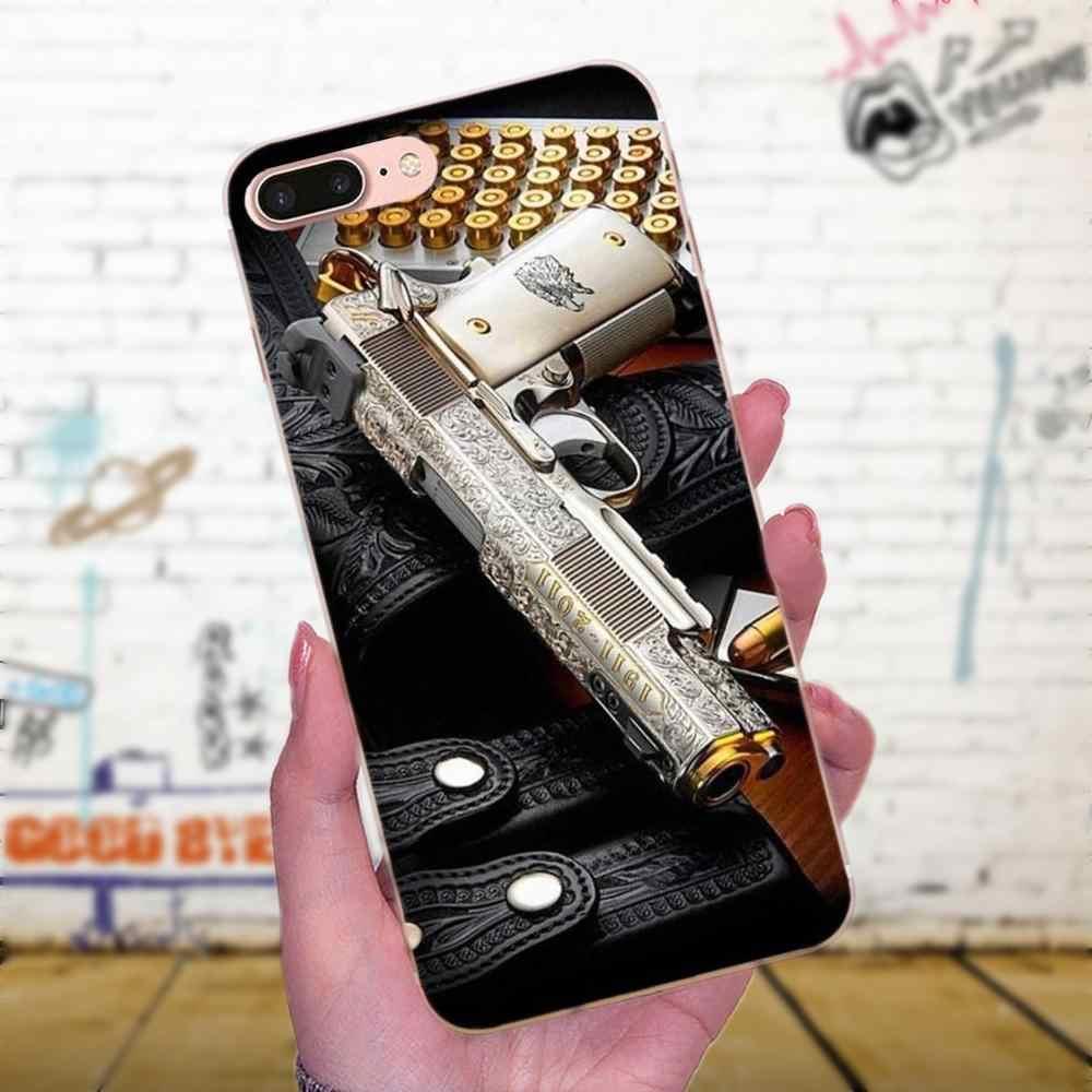 Yumuşak TPU Telefonu Ordu Keskin Nişancı Tüfeği Tabanca Mermi Galaxy J1 J2 J3 J330 J4 J5 J6 J7 J730 J8 2015 2016 2017 2018 mini Pro