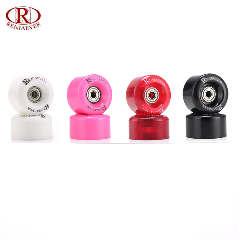 Roller Skates High-Rebound Wheels 89a 58mm*34mm White, Wine Red, Black, Pink Wheels, With Steel Bearings 9(Set Of 4)