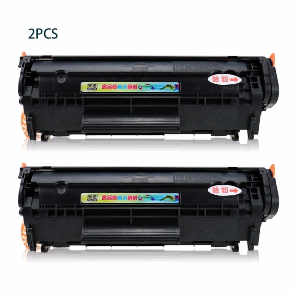 TIANSE Q2612A 2pcs Toner Cartridge Compatible Inkjet Cartridge Replacement for HP1020 M1005 MFP Laserjet 2pcs Optional (Non-OEM) cf283a 83a toner cartridge for hp laesrjet mfp m225 m127fn m125 m127 m201 m202 m226 printer 12 000pages more prints