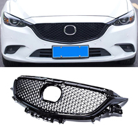 ABS сетки спереди гонки решетка крышка украшения с сеткой аксессуары для Mazda 6 M6 Atenza Sedan стайлинга автомобилей