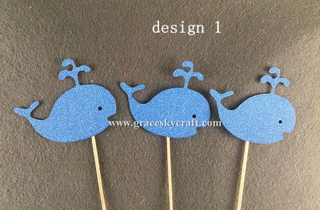 12pcs free shipping Glitter paper lovely cartoon dolphin design