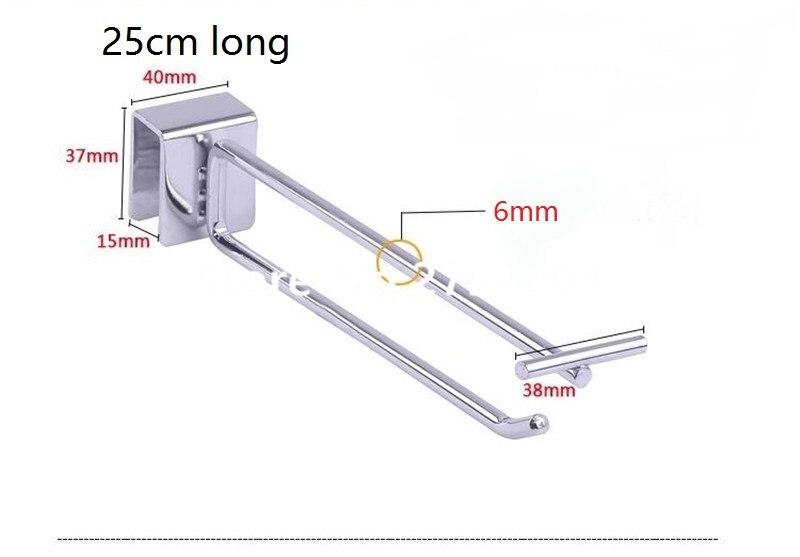 (100 Pcs/pack ) 25cm Length 6mm Diameter Wholesale Security Display Hook Retail Display Hooks