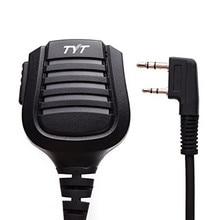 TYT Walkie Talkie IP57 Waterproof Remote Speaker Mic 2 Pin for TYT Tytera Most of Two Way Radio TH-UV8000E Digital MD-380 MD-390
