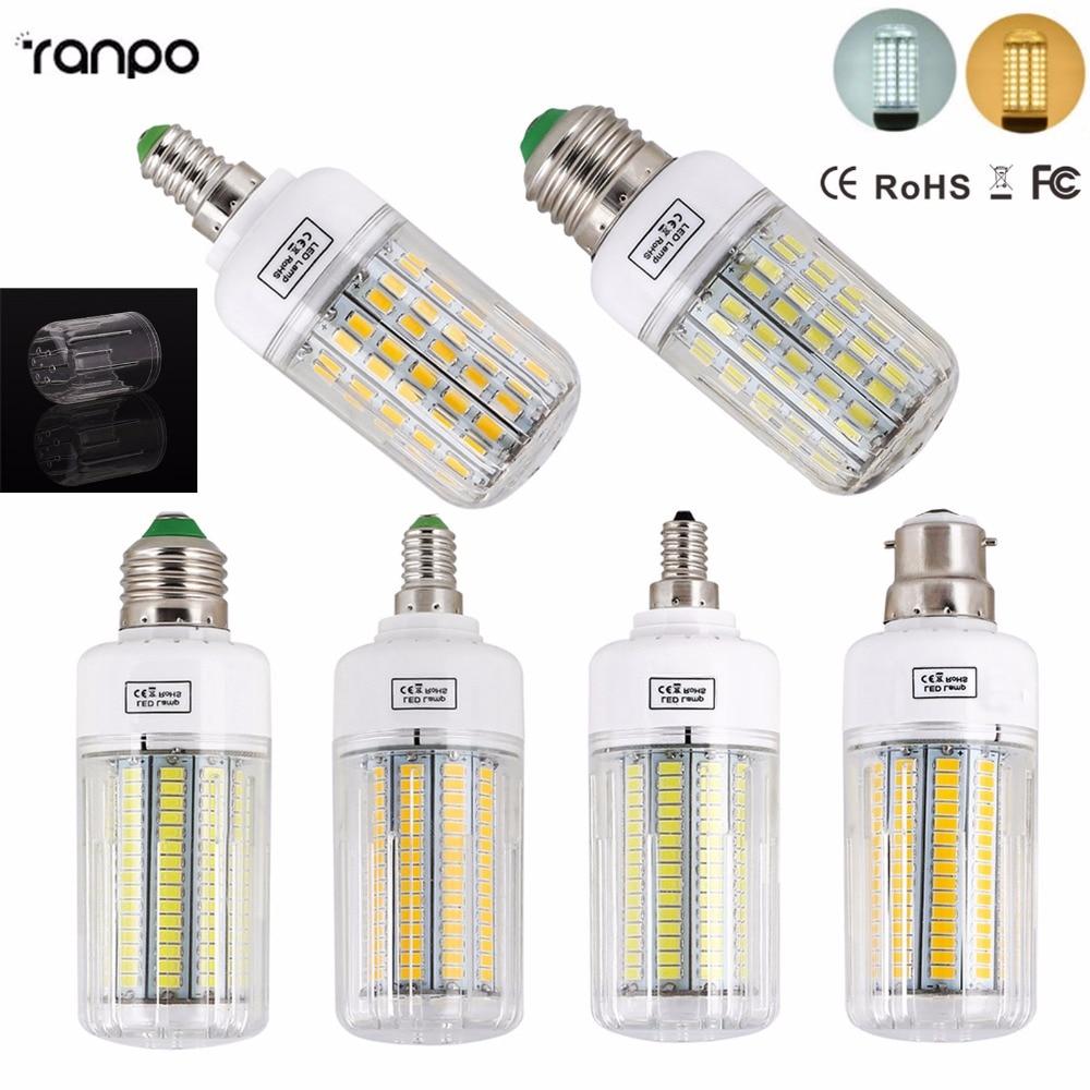 New 5730 SMD LED Lamp Bulb E14 E27 B22 E12 Light Bulbs 24 30 42 64 80 89 108 136 165leds Ampoule Bombillas Lighting For Home цена
