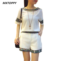 Women Sets Summer Cloth T Shirt And Pant Two Pieces Quality Fashion Nation Style Short Sleeve