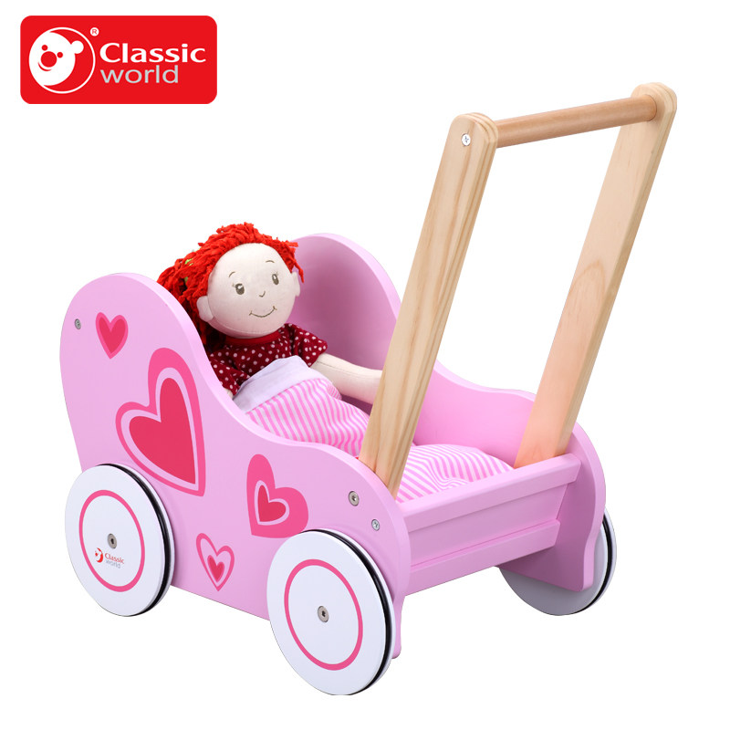 Pink princess series heart baby stroller худи print bar pink heart