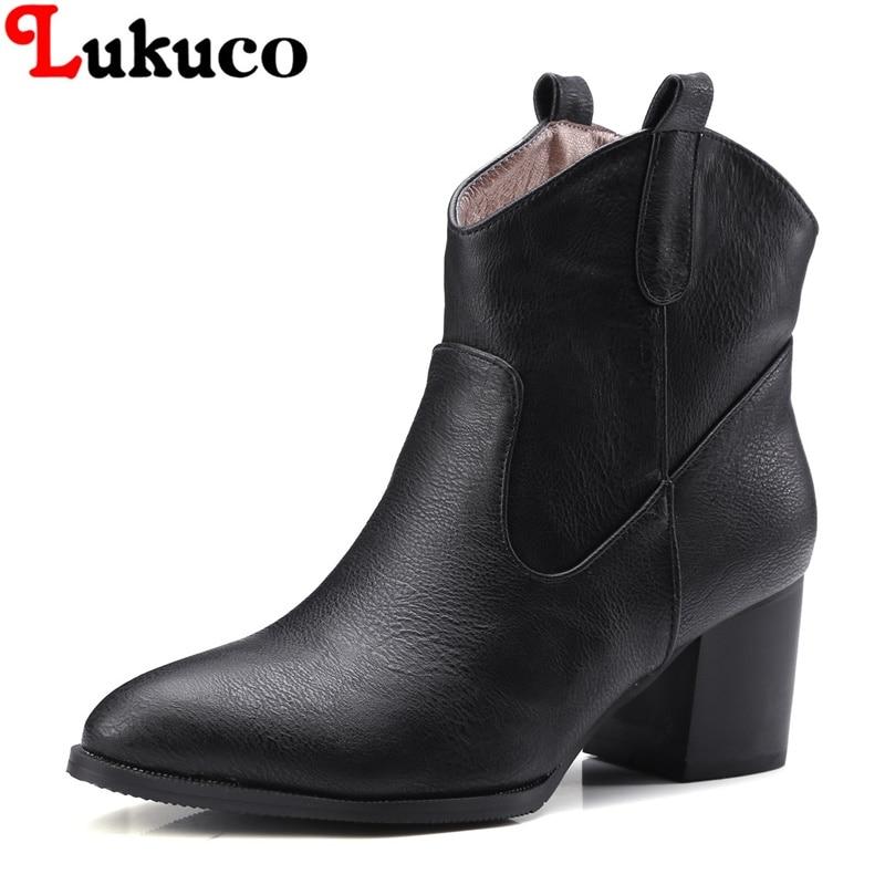 2018 lady ankle boots super large size 37 38 39 40 41 42 43 44 45 46 47 48 ELEGANT STYLE women shoes retro design free shipping