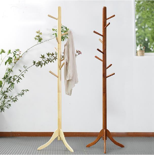 100% Oak hatrack, Wooden coat rack stand 177cm,8 wood hook ...