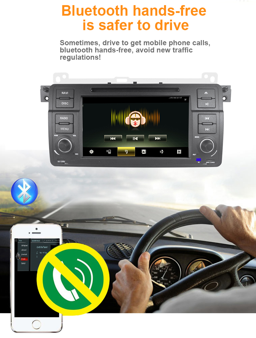 10 Koason 9 inch Android System 7.1.1 Car Media Player GPS Navigation With disc Stereo for BMW E46 1998-2005