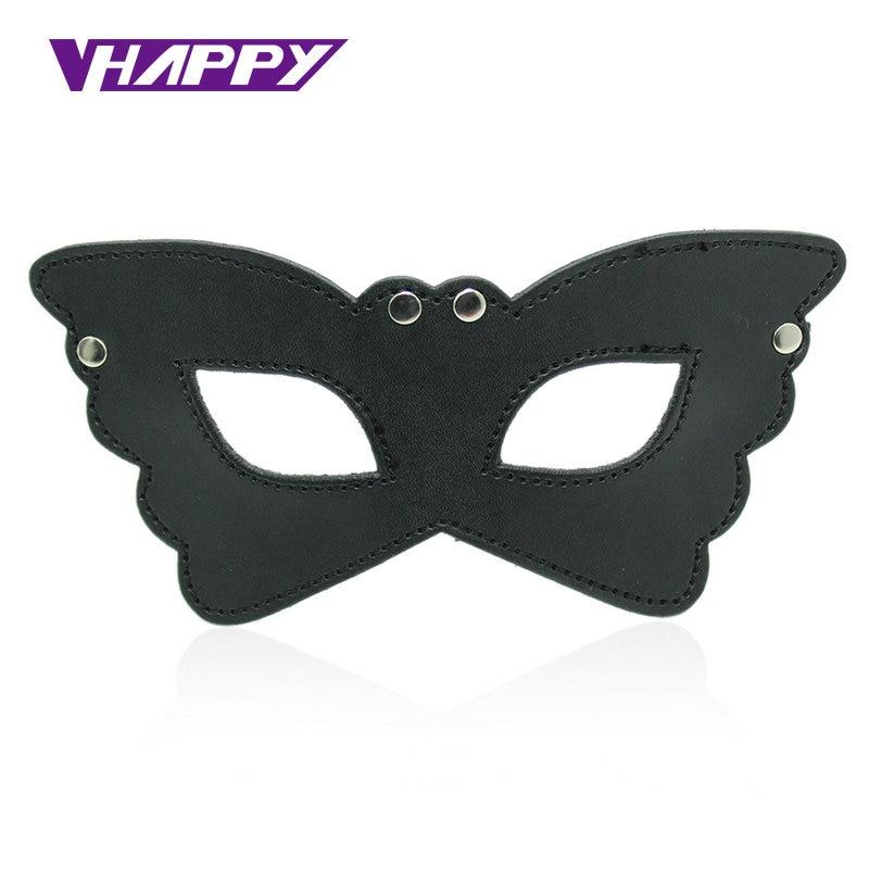 Producto para adultos juego divertido juguete coqueteo máscara de cuero para los ojos sueño vendado para parejas fiesta de disfraces de Halloween VP-EM008024A