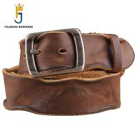 Top Quality Mens Pure Cowhide Men S Waist Belts Retro Leisure Genuine Leather Head Leather Belts