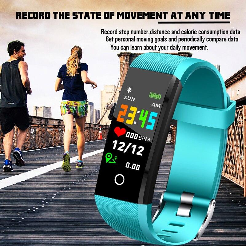 LIGE 2019, новинка, фитнес-трекер, спортивный умный Браслет, IP67, водонепроницаемые часы, пульсометр, шагомер, умный Браслет для Android ios