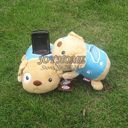 17x10x7cm, 50pcs/lot, Lovely Dog Cell Phone Pouch, Mobile Display Stand, Cell Phone Holder, Free Shipping, Wholesale Price